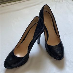 Cole Haan black sequin heels